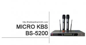 Micro không dây KBS BS 5200_05